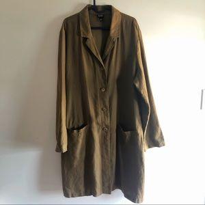 Eileen fisher long linen Jacket